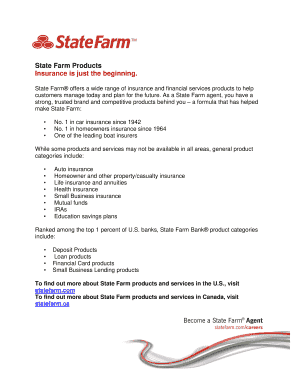 Get And Sign Blank State Farm Letterhead Form