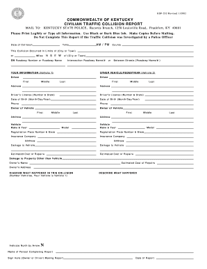 Get And Sign Civilian Traffic Report Form