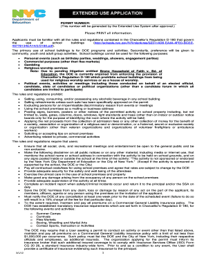 Nyc doe extended use permit application pdf - Fill Out and ...