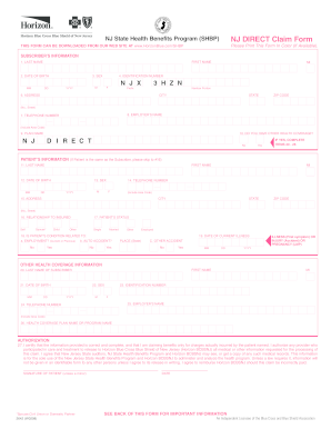 Claim form nj - Fill Out and Sign Printable PDF Template