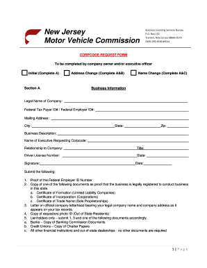 Nj Corp Code Form Fill Out And Sign Printable Pdf Template Signnow