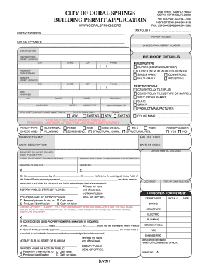 Coral Permit Form Fill Out And Sign Printable Pdf