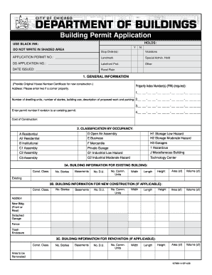 Get and Sign buildings permit form
