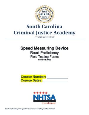 SMD Road Proficiency Test Form - South Carolina Criminal