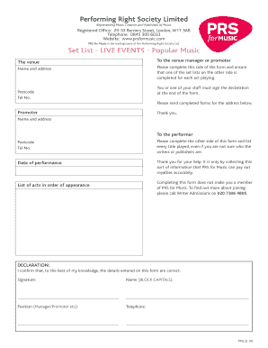 2801 PP-LSL 09 Live Events v2 qxd form - Fill Out and Sign Printable