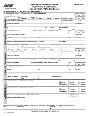 SR1 DMV 2008-2018 Form - Fill Out and Sign Printable PDF Template