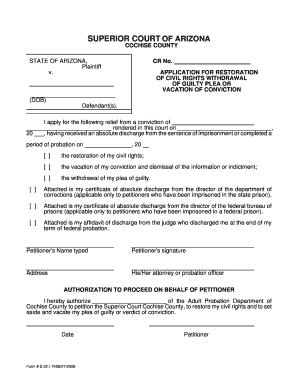 Superior Service Application Form   Superior Court Of Arizona Cochise County Government Cochise Az