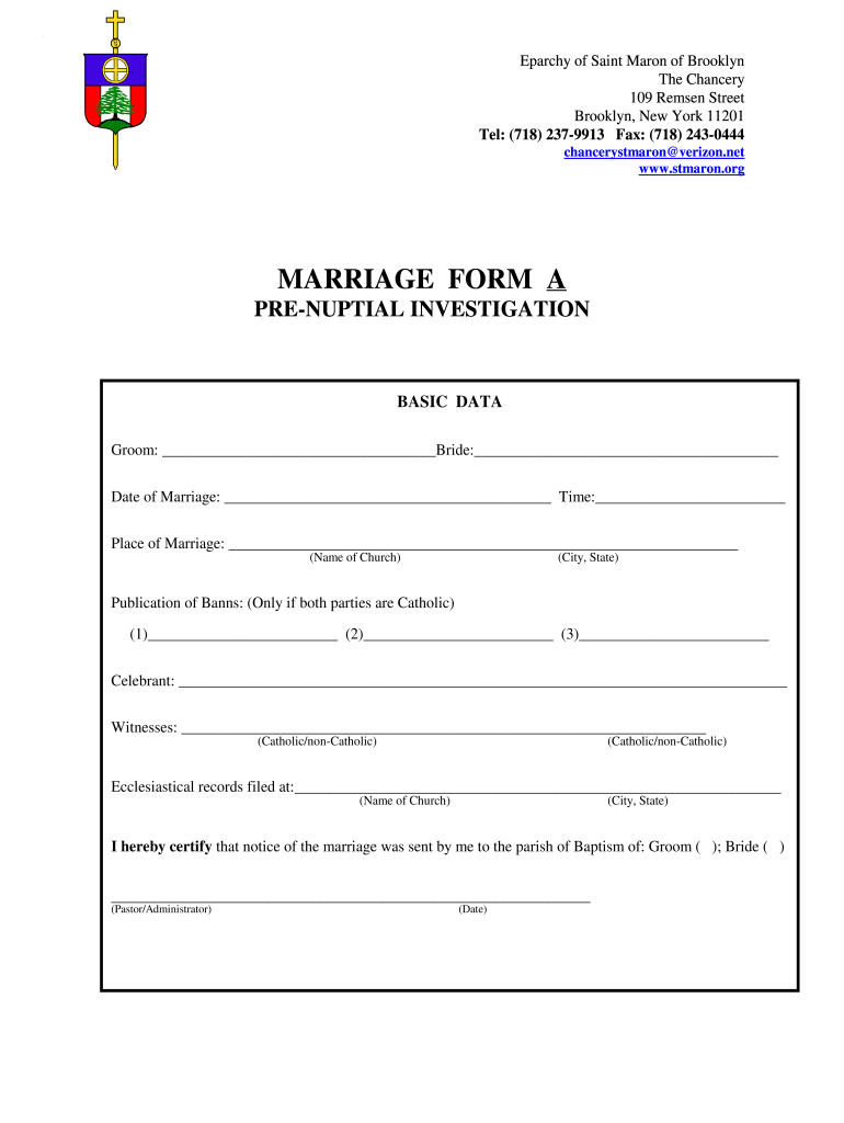 Get And Sign Pre Nuptial Investigation Nyc Form