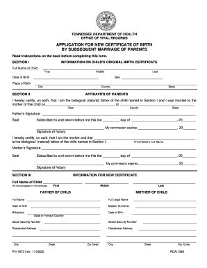 photo relating to Printable Birth Certificate referred to as Blank delivery certification pdf tn 2008 kind - Fill Out and Signal