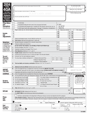 Get And Sign Alabama State Tax Return Form 40a