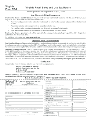 Virginia Form St 9 Fill Out And Sign Printable Pdf Template Signnow