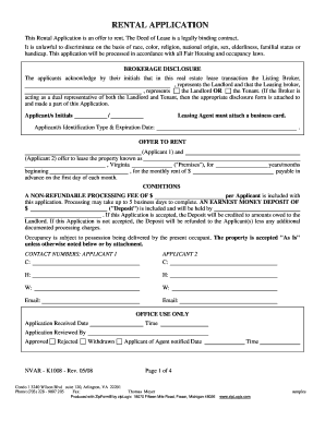 Rental Application Pdf Fillable Form Fill Out And Sign Printable