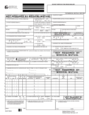 picture regarding 1500 Claim Form Printable known as Professional medical mutual of ohio declare style 1500 guideline - Fill Out and