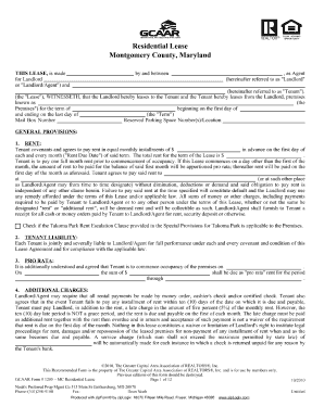 Montgomery County Rental Application Form Fill Out And