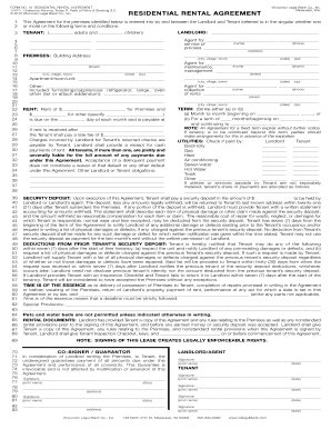 Residential Lease | Wisconsin Residential Lease Form 19 Signnow Fill Out And Sign