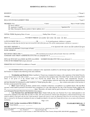 Standard Form 410 T Residential Rental Contract Doc Fill
