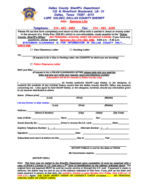 Tx police clearance form - Fill Out and Sign Printable PDF