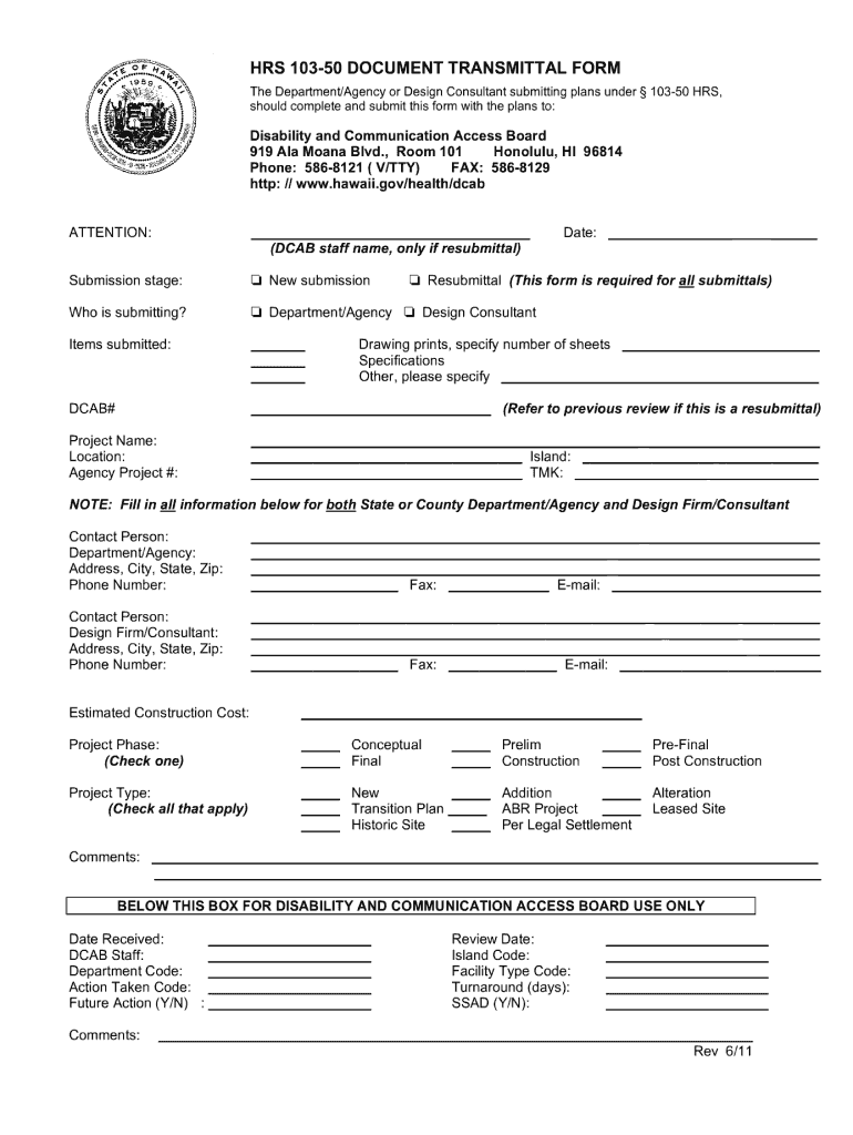 Get And Sign Hrs 103 50 2011-2021 Form