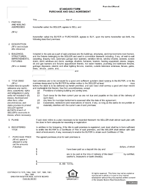 Greater Boston Real Estate Board Purchase And Sale Agreement Form