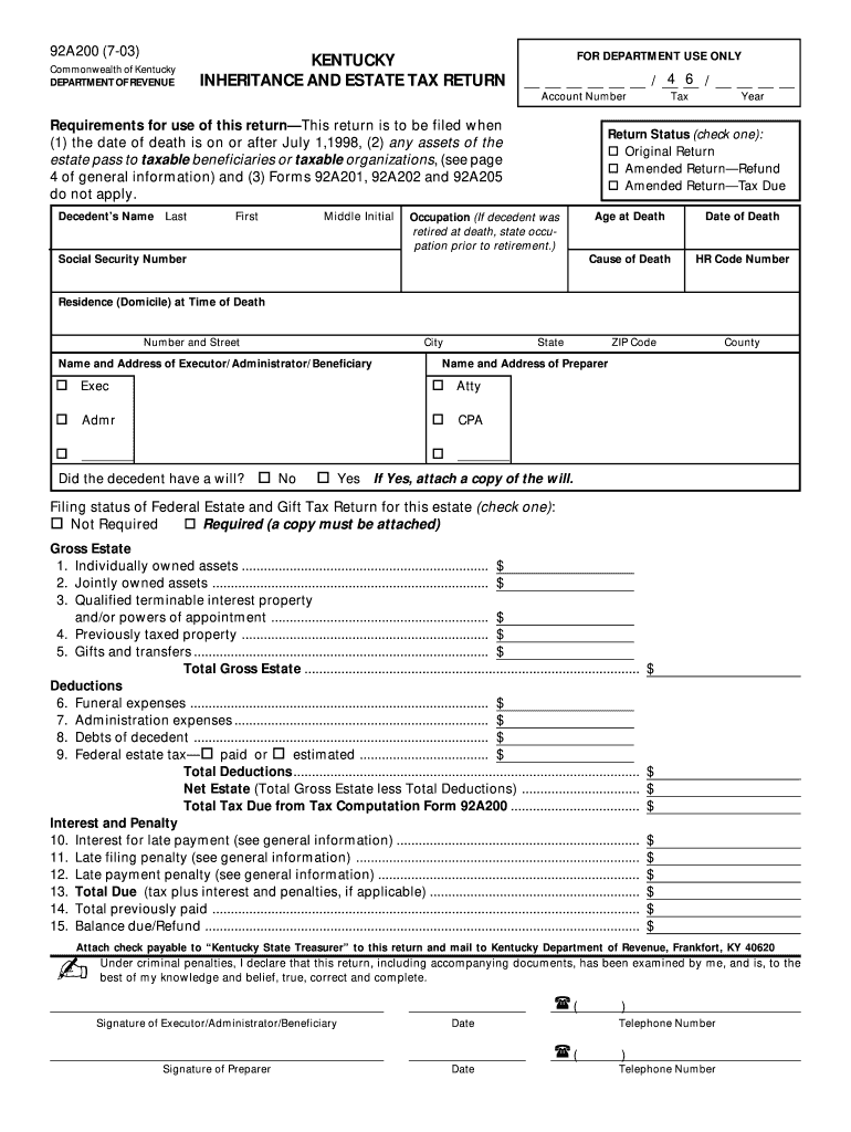 Get And Sign Form 92a200 2016-2021