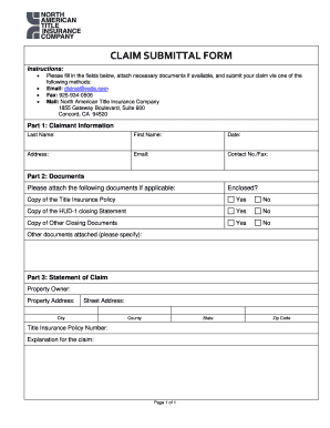 Get And Sign Claim Submittal Form