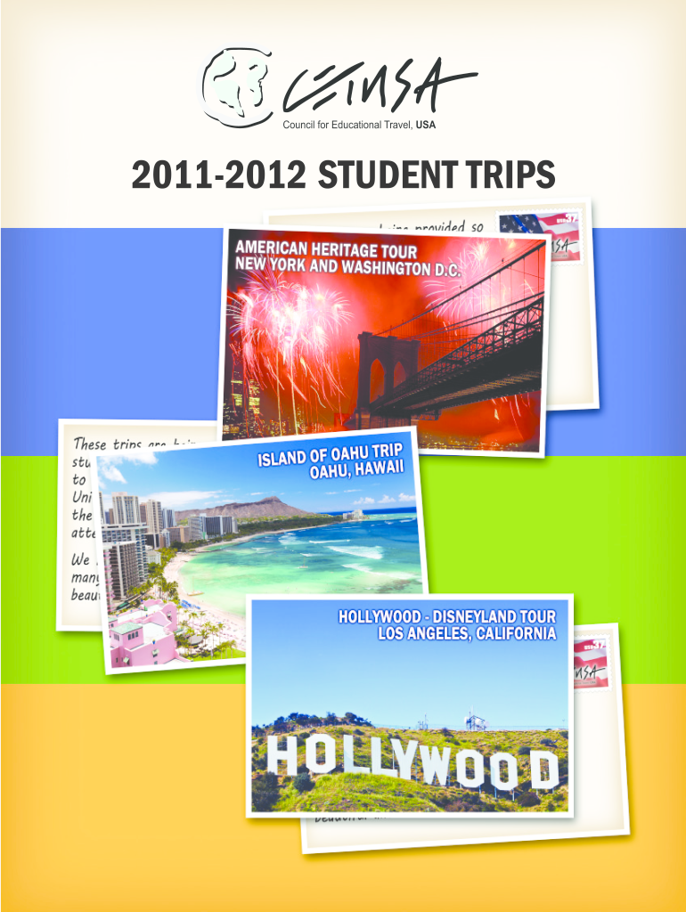 Get And Sign STUDENT TRIPS  CETUSA  Cetusa 2011-2021 Form