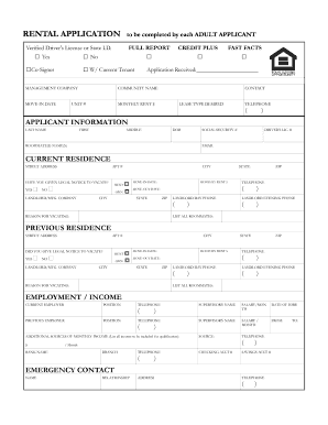 image about Printable Standard Application named Regular condo software package type - Fill Out and Indicator