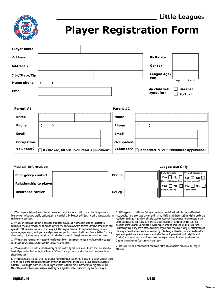 Printable Registration Form Template from www.signnow.com