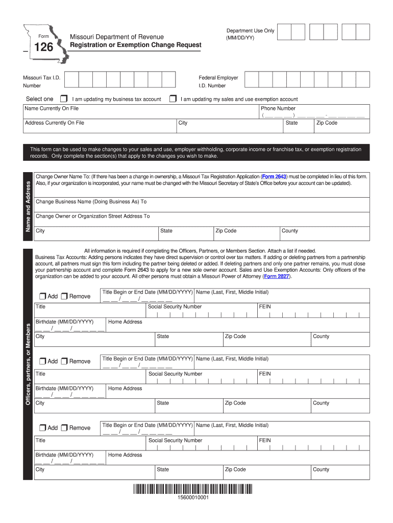Get And Sign Form 126