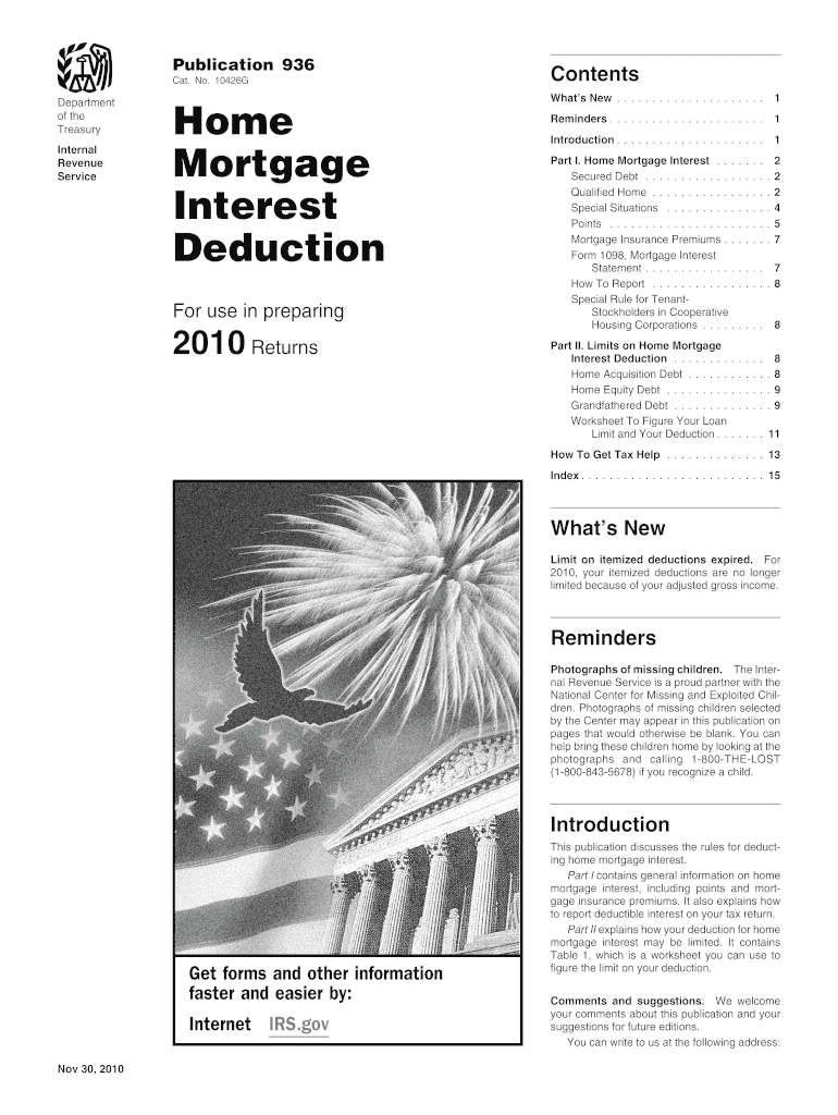 Get And Sign Home Mortgage Interest Worksheet Form 2010-2021