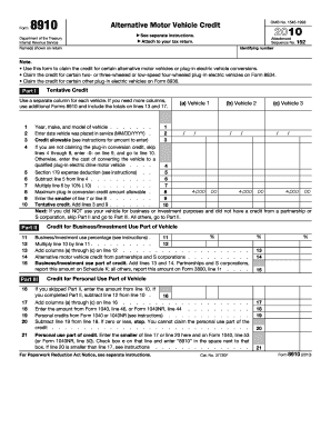 Get And Sign 2010 Form 8910