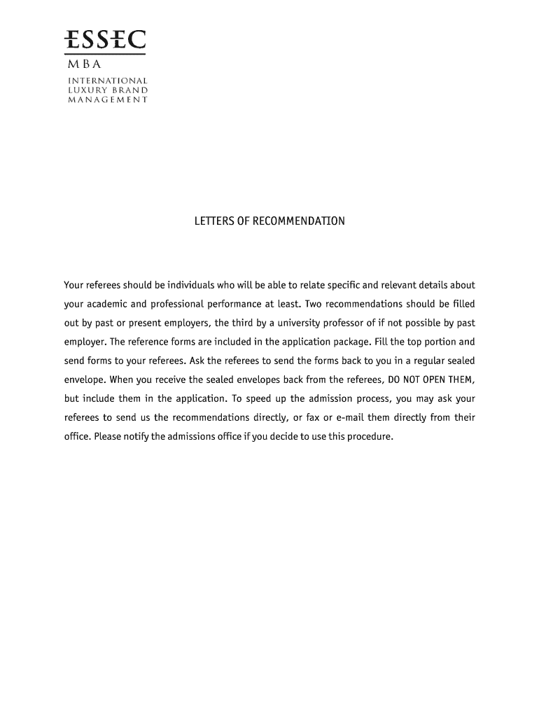 Mba Letter Of Recommendation Template from www.signnow.com