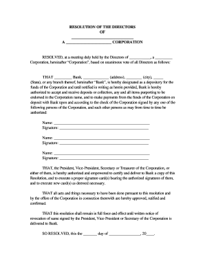 bank of scotland resolution form