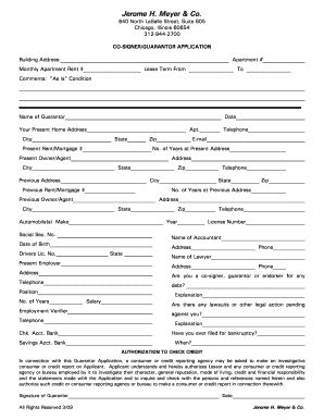 Illinois Residential Lease Co Signer Form Fill Out And