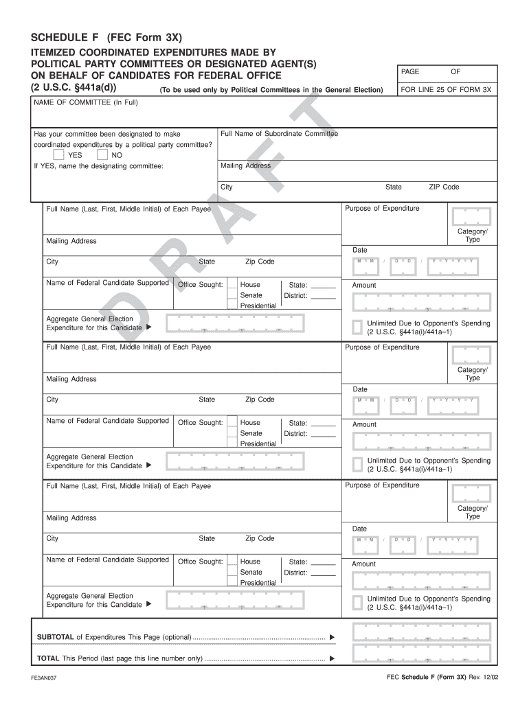 Get And Sign Fec Forms
