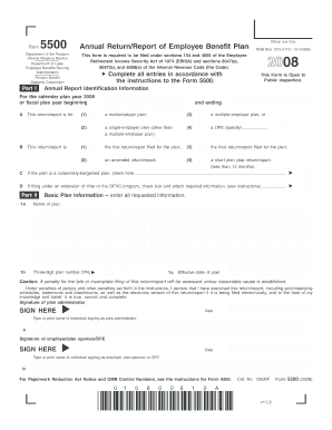 Get And Sign Form5500 Annual ReturnReport Of Employee Benefit Plan  Kaiser 2008-2021
