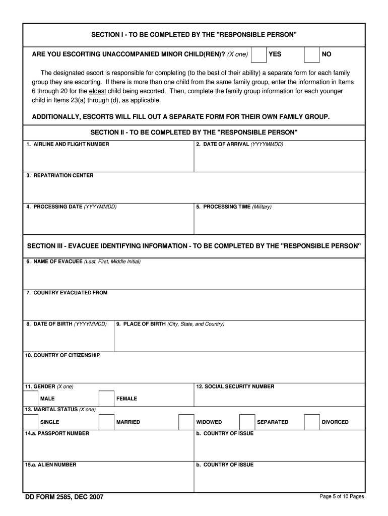 Get And Sign Form Repatriation 2007-2021