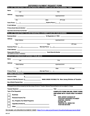 Nj state income tax payment plan form - Fill Out and Sign