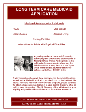 Long care application form - Fill Out and Sign Printable PDF