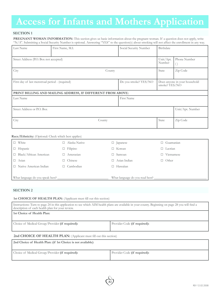 Get And Sign Aim Aerospace Job Application Form 2008-2021