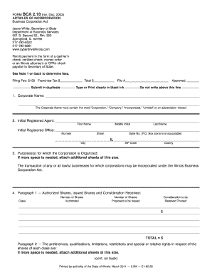 Form bca 2 10 - Fill Out and Sign Printable PDF Template