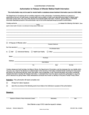 Illinois department of corrections website form - Fill Out