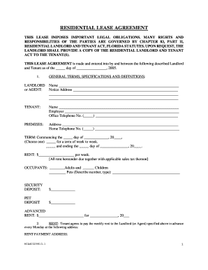 Florida Lease Agreement Form Fill Out And Sign Printable