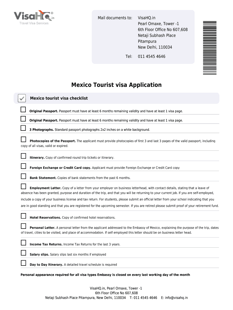 Mexico Visa Application Form Pdf Fill Out And Sign Printable Pdf Template Signnow