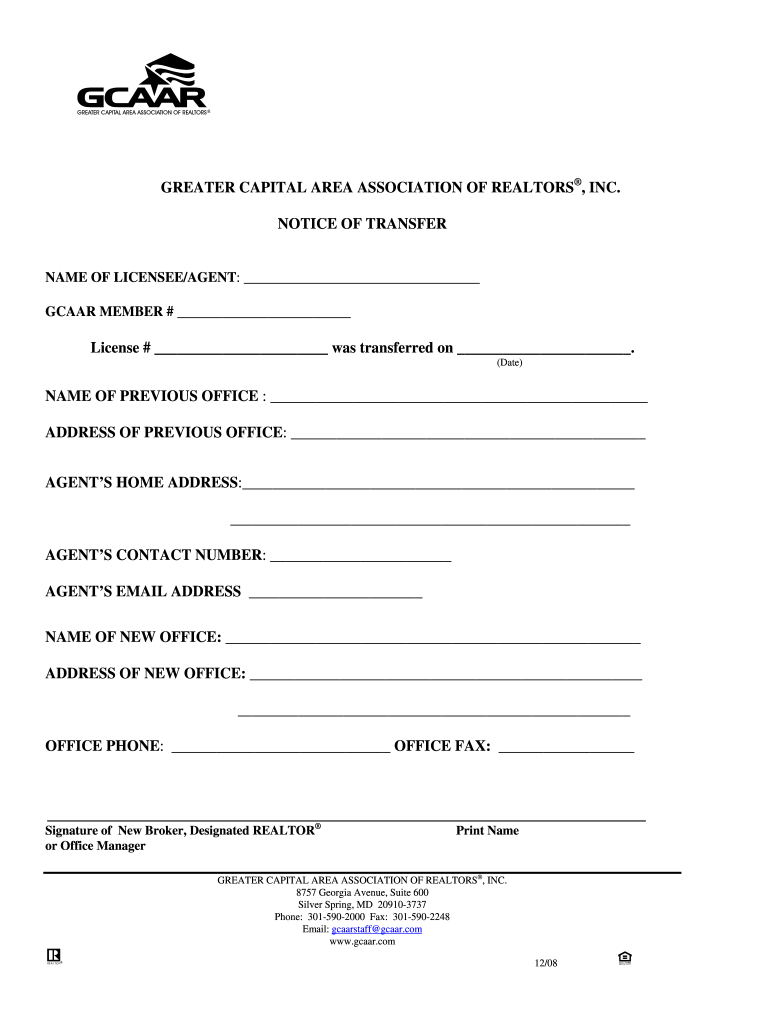 Get And Sign Financial Information Sheet The Great Capital Area Associatoin Of Realtors 2008-2021