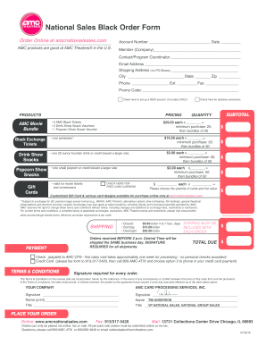 photo about Amc Printable Tickets identified as Amc countrywide revenue obtain sort 2014-2019 - Fill Out and Indicator