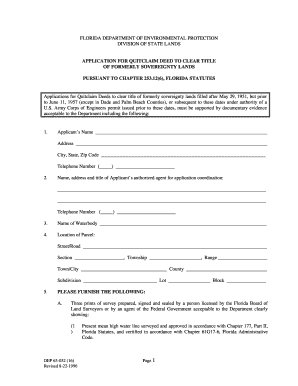 Blank Quit Claim Deed Form Florida Fill Out And Sign