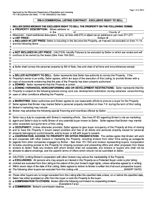 Wb 5 Commercial Listing Contract Form Fill Out And Sign