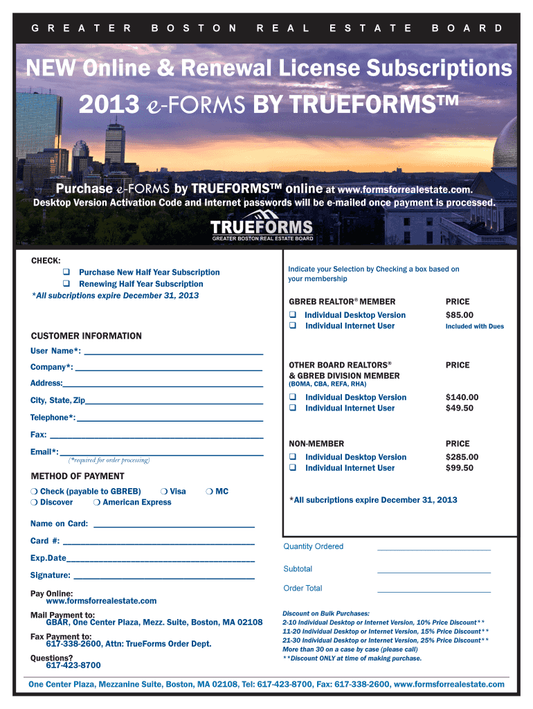 Get And Sign Greater Boston Real Estate Board Forms 2013-2021