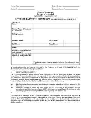 Painting Contractor Forms Fill Out And Sign Printable Pdf Template